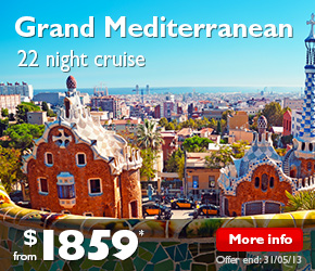 22 Night Grand Mediterranean Cruise on the MSC Fantasia