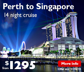 14 Nights Perth (Fremantle) to Singapore Cruise on the Voyager of the Seas