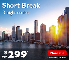 3 Night Short Break Cruise Brisbane to Sydney on the Pacific Jewel