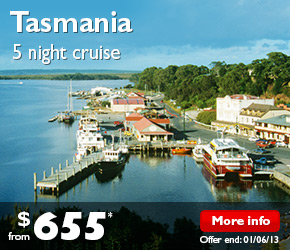 5 Night Tasmania Cruise on the Pacific Jewel