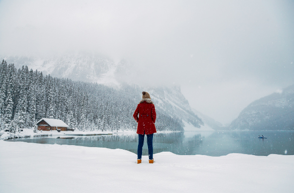 Lake Louise in Banff National Park in winter