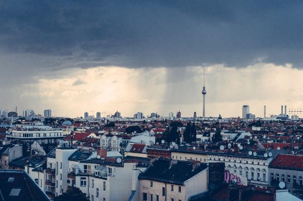 Berlin city skyline view