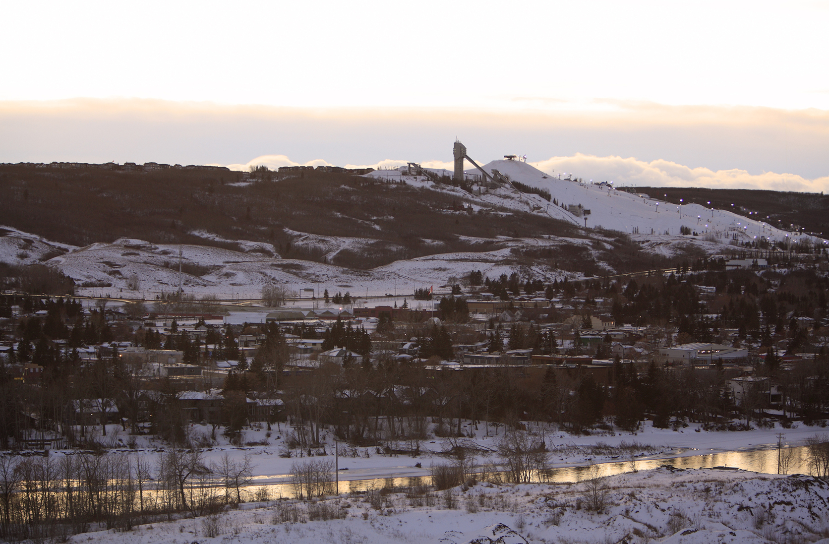 The ski jump at Calgary Olympic Park