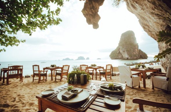 The Rayvadee Krabi resort has The Grotto, a beachside cave restaurant