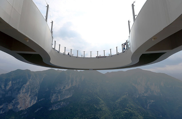 Photos Of Record-Breaking Skywalk In China