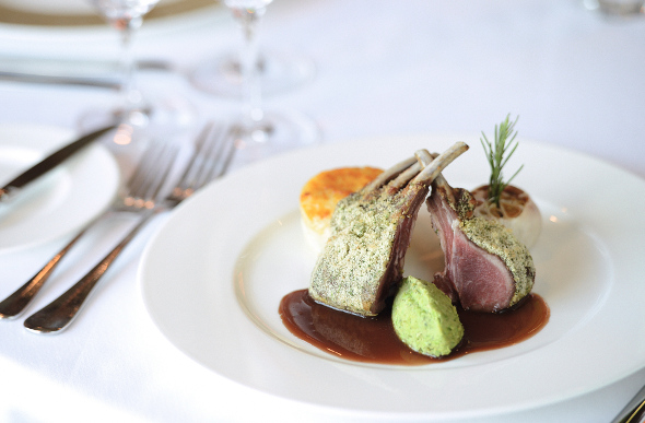 Marco Pierre White's salt marsh lamb rack is a favourite at Ocean ...