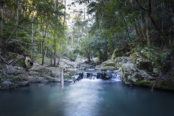 Currumbin Rock Pool waterfall.