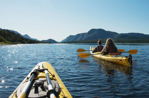 Kayakers at Gros Morne National Park