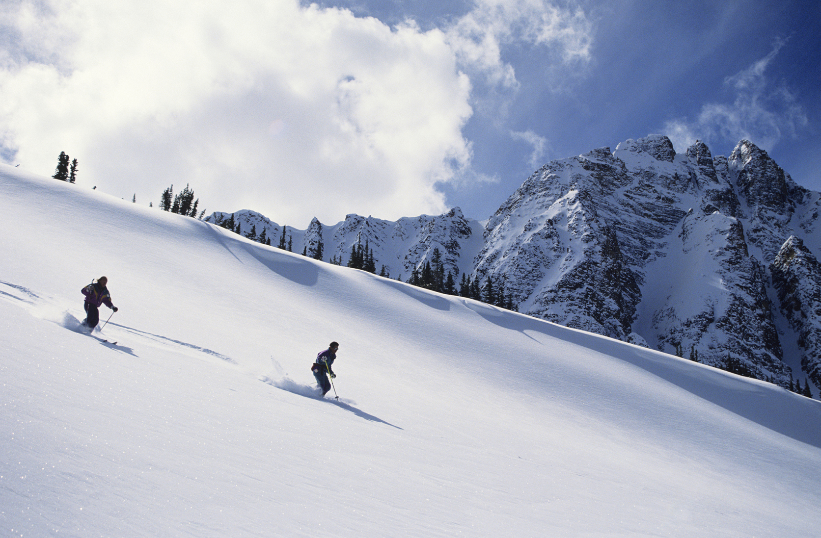 Two skiers take on Jasper National Park
