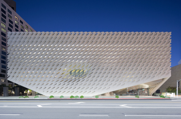 The honeycomb exterior of The Broad,a contemporary gallery in Downtown Los Angeles