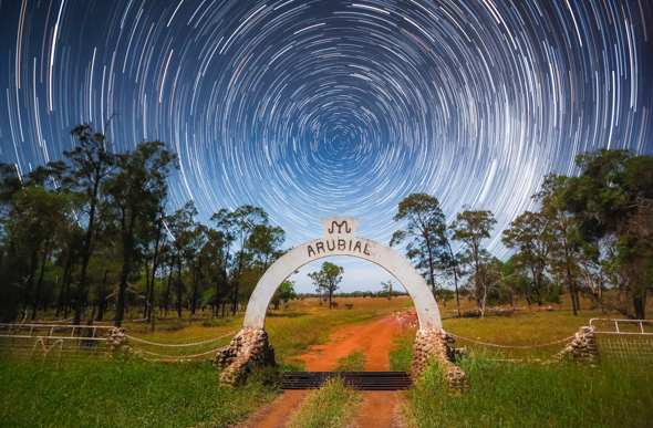 Star trail in Queensland
