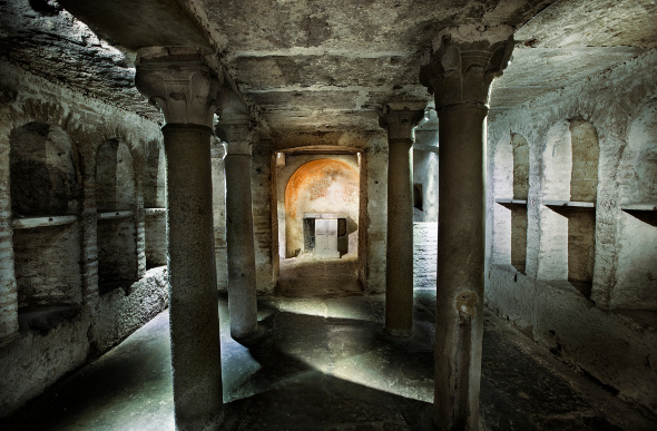 The Roman Catacombs has ornate tombs under Rome's streets