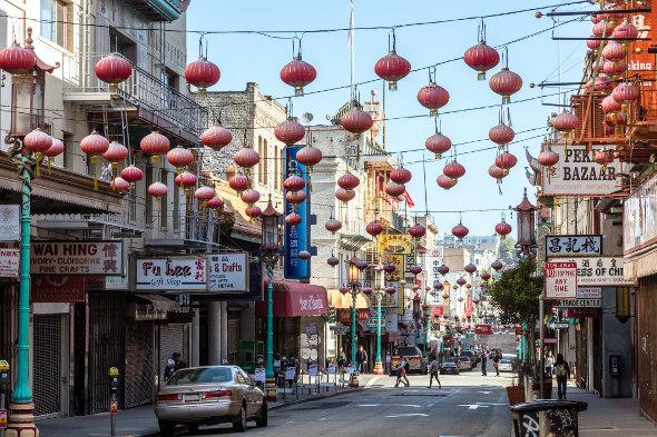 san fancisco china town street