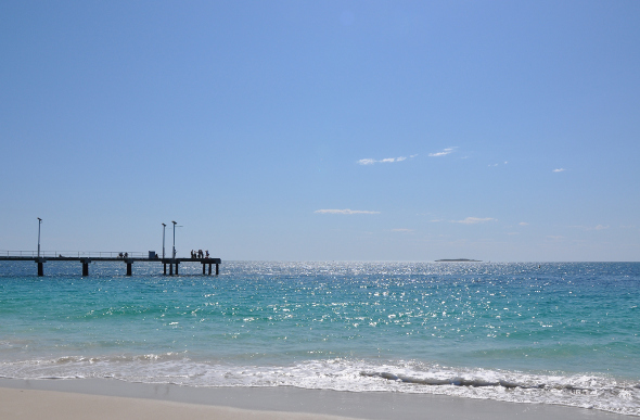 Aquamarine waters and pristine sands at Jurien Bay in Western Australia.