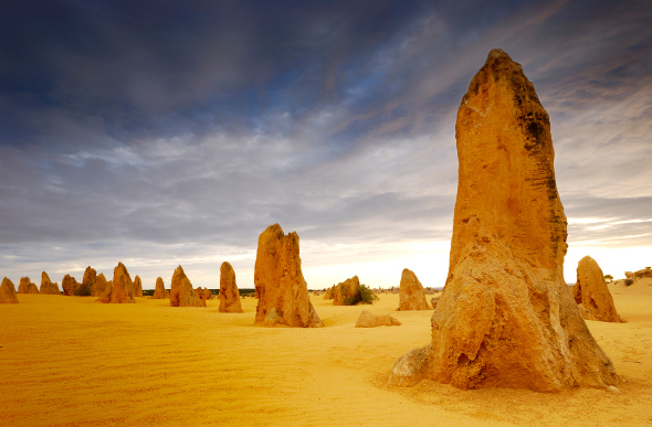 The Pinnacles rise from the desert sands along Western Australia's Indian Ocean Drive.