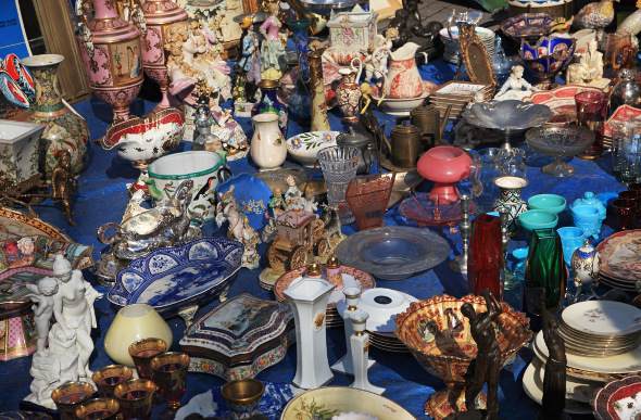 a market stall in Athens