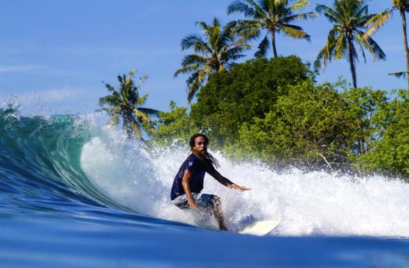 Man surfing in Bali