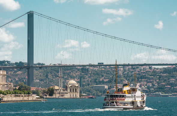 Cruising Up The Bosphorus From Istanbul