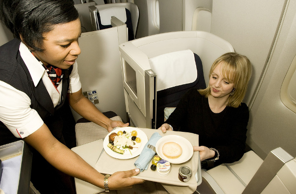 British Airways food
