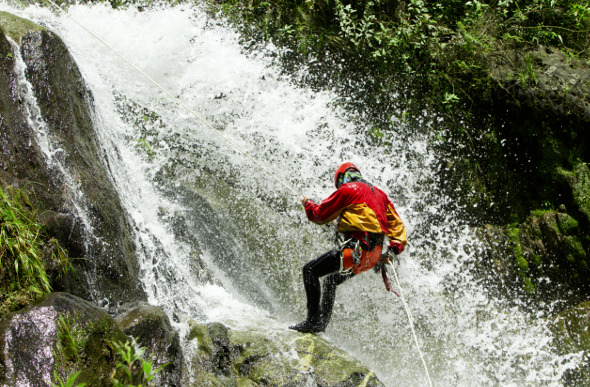 canyoning waterfall