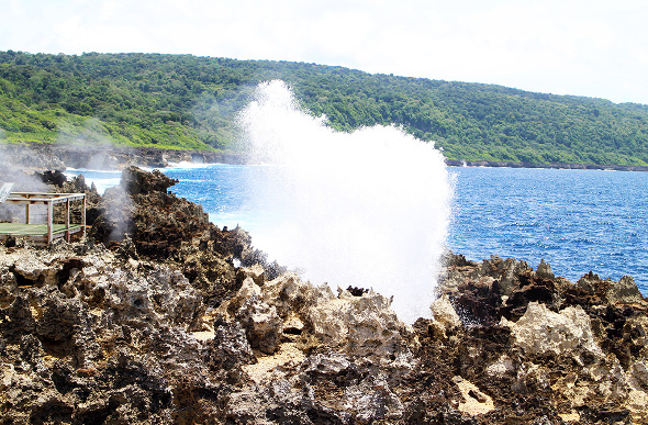 The blow holes on Christmas Island.