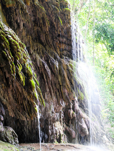 A waterfall in the Dales on Christmas Island.