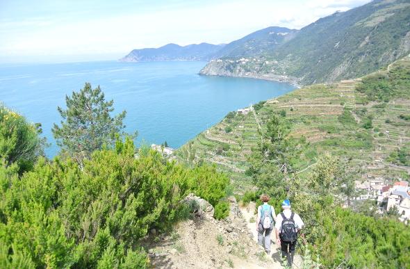 Coastal views from the Beccara trail