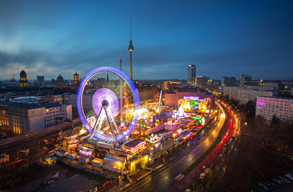 The brightly lit Christmas markets in Berlin