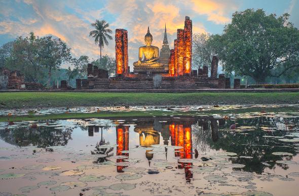 Wat Mahathat in Sukhothai Historical Park