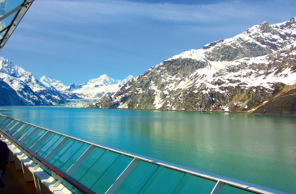 View of Alaska from a cruise ship