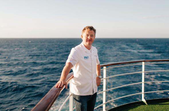 Luke Mangan on a cruise ship