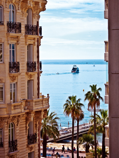 Cannes buildings and water