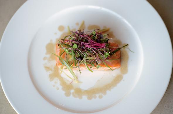 pan-seared Loch Duart Salmon Supreme