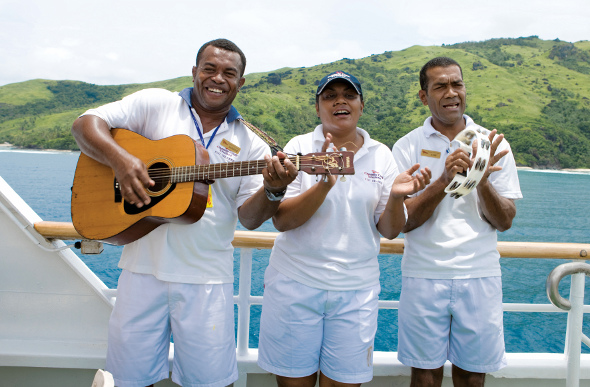 Fijian acoustic band on cruise ship