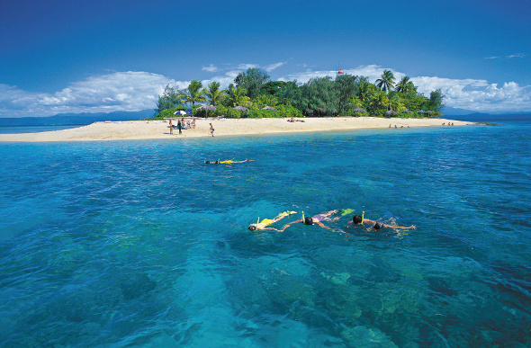 Snorkelling off an island