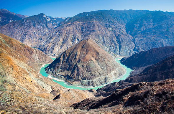 The Yangtzee River in Asia