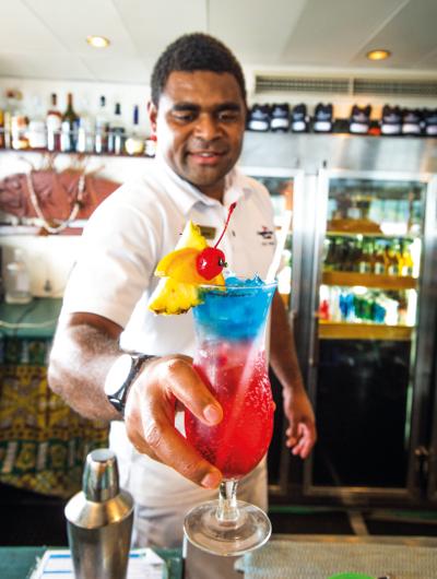 A Tobu Karakarawa cocktail on Reef Endeavour