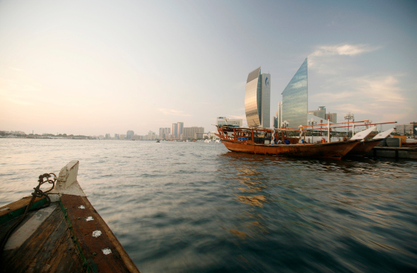 The view from the traditional abra as you cross Dubai Creek.