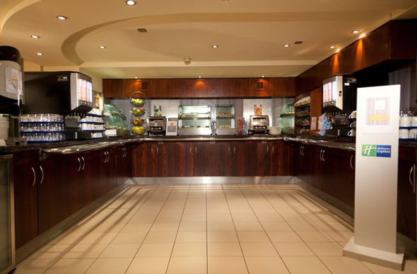 A Holiday Inn breakfast bar