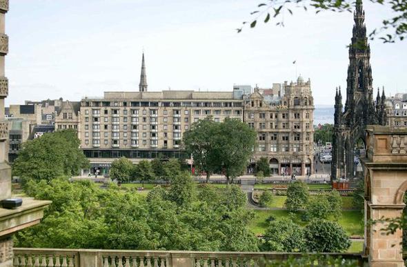 The gothic facade of Mercure Edinburgh City