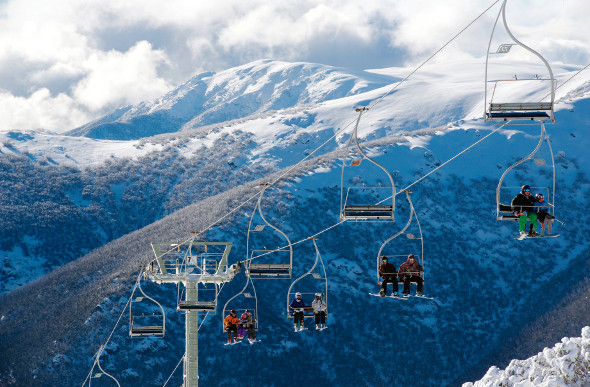 The Eagle Chair Lift is one of the most scenic chair lifts in at Falls Creek.