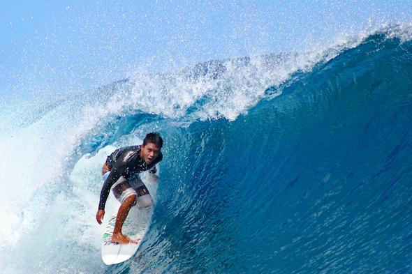 Teahupoo waves.