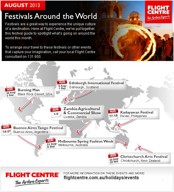 Flight Centre August Festivals