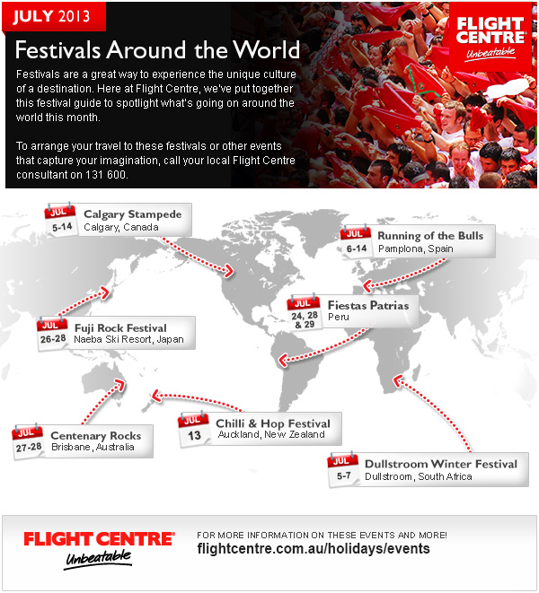 Flight Centre July Festivals