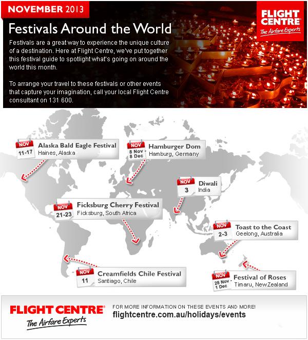 Flight Centre November Festivals
