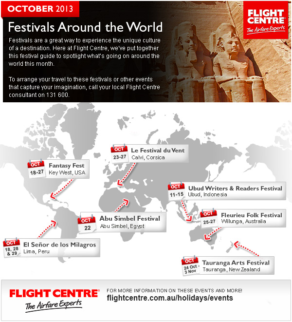 Flight Centre August Festivals