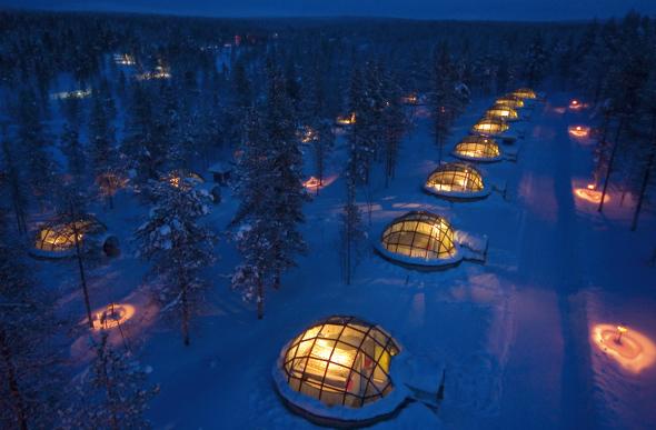 Kakslauttanen in Finnish Lapland