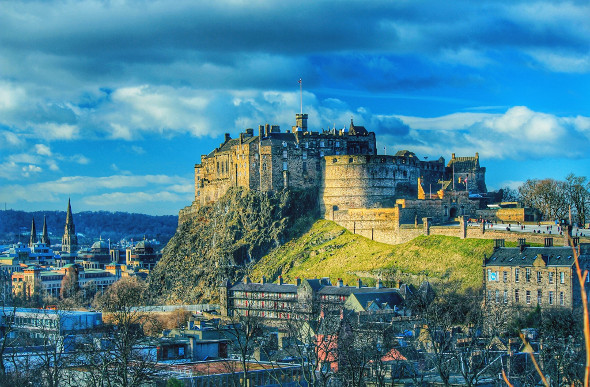 Edinburgh Castle looms over the rooftops of the Scottish capital. Picture: Getty Images