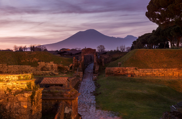 The ruins of Pompeii in the shadow of Mt Vesuvius. Picture: Getty Images