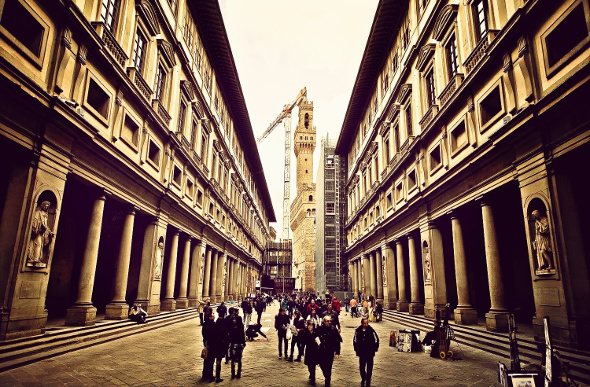 The Uffizi is a must in Florence. Picture: Getty Images